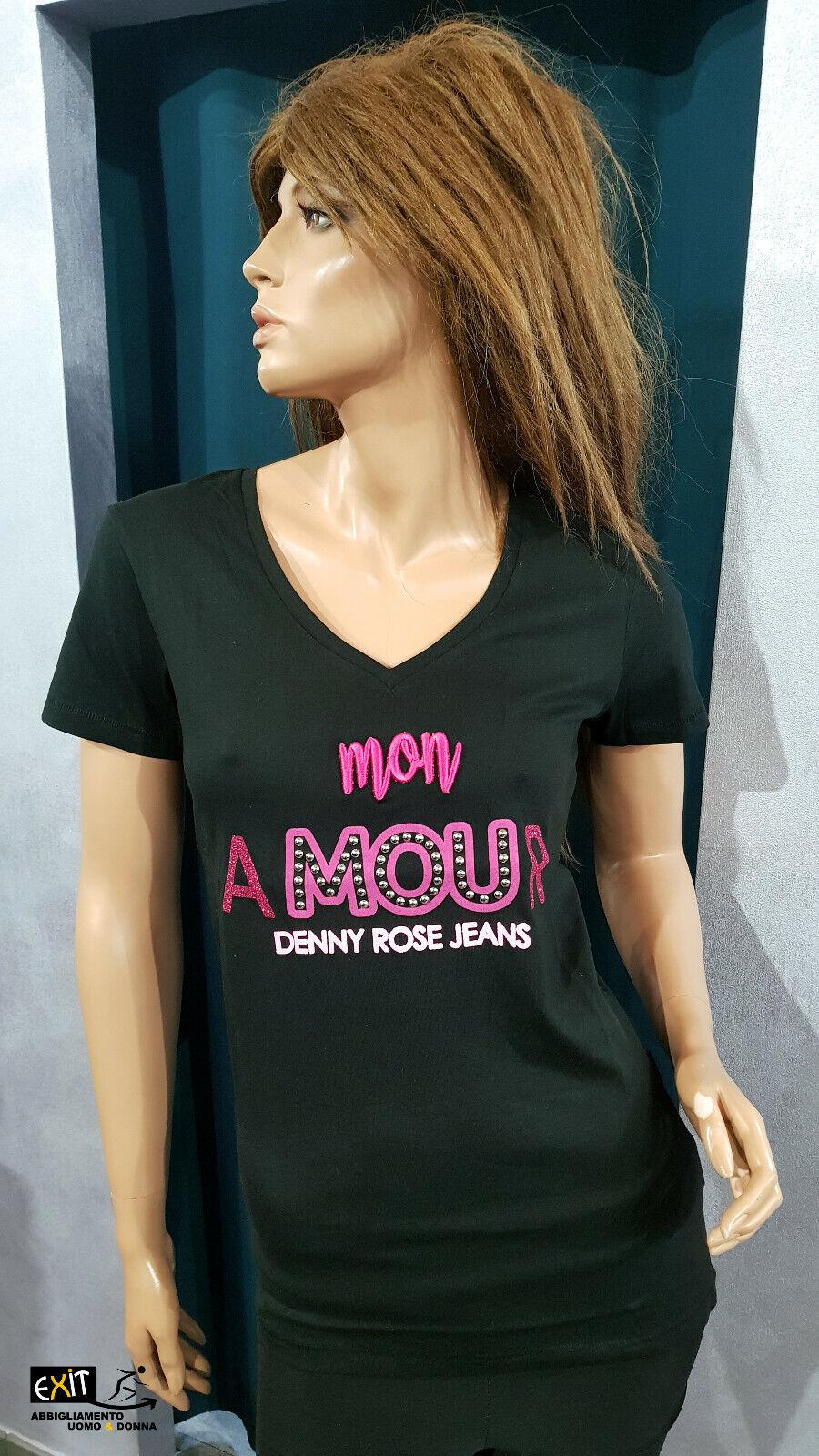 Denny Rosa t-shirt con applicazioni art. 911ND64008 collezione Jeans p.e. 2019