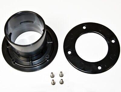 Tankdurchführung aus ABS schwarz Behälter Flansch Foliendurchführungen Ø 75 mm