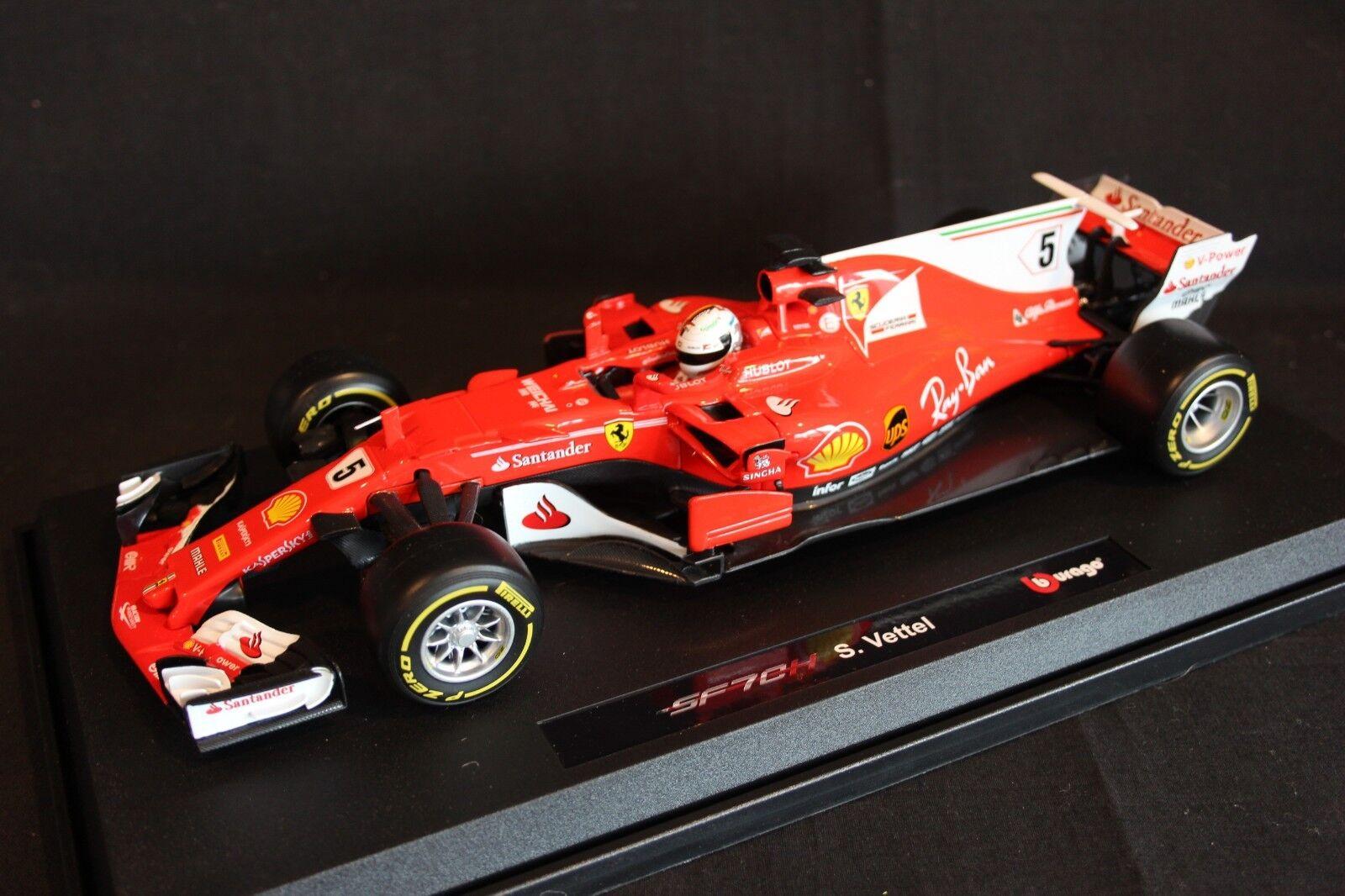 Bburago Ferrari SF70H 2017 1 18  5 Sebsatian Vettel (GER)