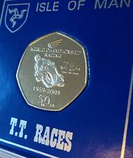2009 Isle of Man Tourist Trophy Motorcycle Race TT Races 50p Coin Gift Display