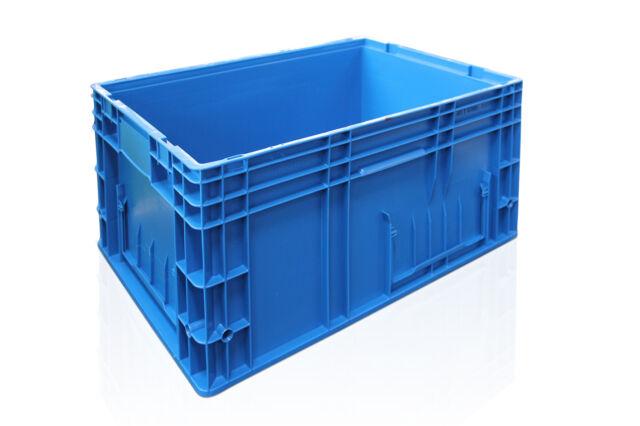 3x fabrikneue Stapelkisten Behälter RL-KLT 6280, 600x400x280 mm, 2. Wahl
