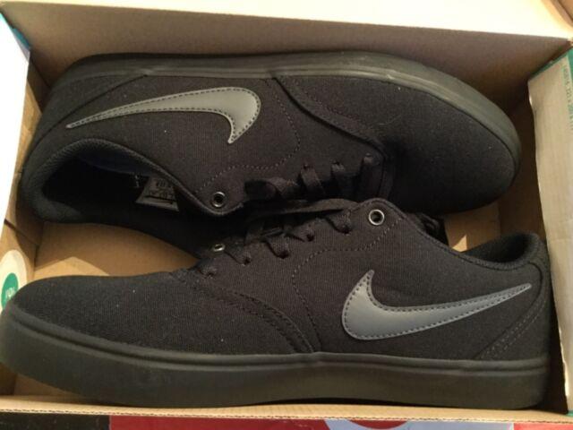 238cafdde684 Nike Unisex SB Check Solar CNVS Black anthracite Skate Shoe 9.5 Men US   11