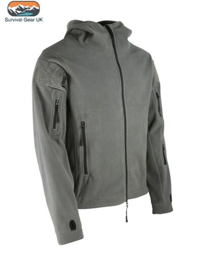 Gun Metal Grey Tactical Military Fleece Recon Special Forces Jacket Sizes S-XXXL
