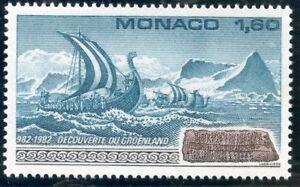 Intelligent Stamp / Timbre De Monaco N° 1356 ** Groenland / Flotte Viking Et Pierre Runique