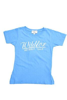 Di Carattere Dolce Wildfox Kid's Ragazze Manica Corta Top Blu Taglia 7/8 Rrp 30 £ Bcf712-mostra Il Titolo Originale