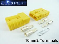 ANDERSON PLUG 50 AMP_BATTERY CONNECTOR_JUMP START_SLAVE ASSIST_X2_YELLOW_10MM2