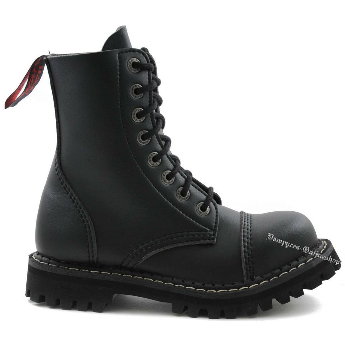 Angry Itch 8-Loch Vegan Negro Rangers Stiefel Zapatos botas Stahlkappen Stahlkappen Stahlkappen Negro 1a8f9e