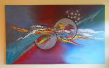 """Fire and Ice"" Acryl Gemälde der Künstlerin Hilde Ament Art Painting Unikat !"