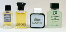 MEN'S MINI PERFUMES  CHANEL POUR HOMME, LACOSTE, PACO RABANNE SPORT, TUSCANY