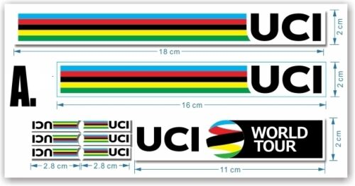 Tour de France Helmet//Frame Decals Stickers Road Bike UCI World Champion Stripe