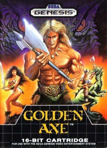 Golden Axe Classic Video Game Cover 90s Kid Retro Old School Rad Cool Sticker