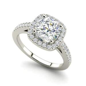 Halo-1-45-Carat-SI1-F-Cushion-Cut-Diamond-Engagement-Ring-White-Gold