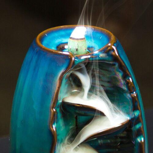 Incense Burner Handicraft Incense Holder Ceramic Backflow Waterfall Smoke Decor