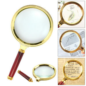 Classic-10X-Magnifier-Magnifying-Glass-90mm-Handheld-Jewelry-Loupe-Reading-Hot
