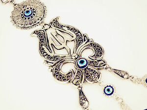 Details about Islamic Allah Prayer Evil Eye Car House Charm Safety  Protection Good Wish Gift