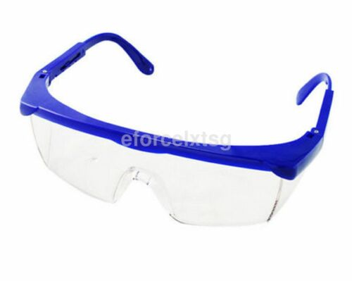 Transparent Safety Glasses Adjustable Shock-proof Anti Fog Clear Goggles US