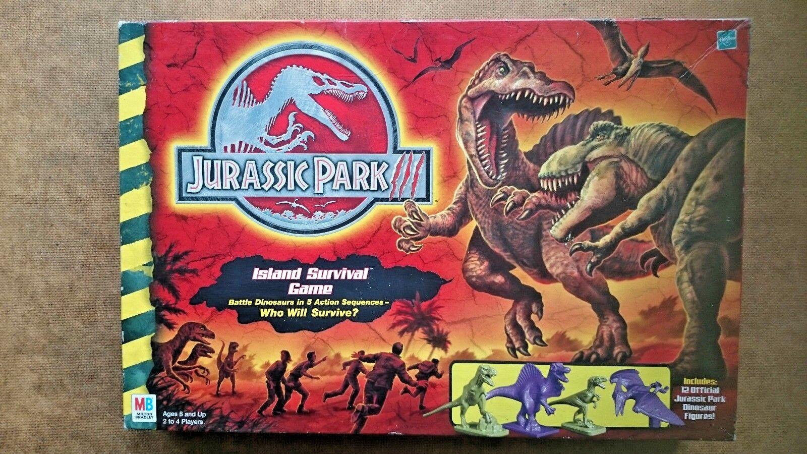 Vintage JURASSIC PARK island survival game by MB 2001   expédition rapide à vous