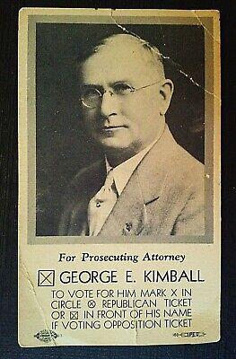 Vintage. Kansas City Political History, 1930 Campaign ...