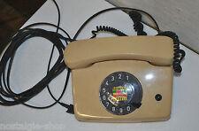 70er Telefon Beige Wählscheibe 70s Lounge Telephone cream Panton Ära cult Phone
