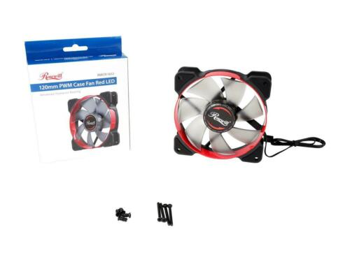 Pulse Width Modulation Rosewill 120mm Case Fan with Red LED and PWM Function,