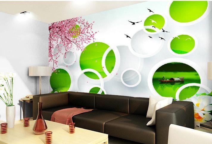3D Circular Grün 128 WallPaper Murals Wall Print Decal Wall Deco AJ WALLPAPER