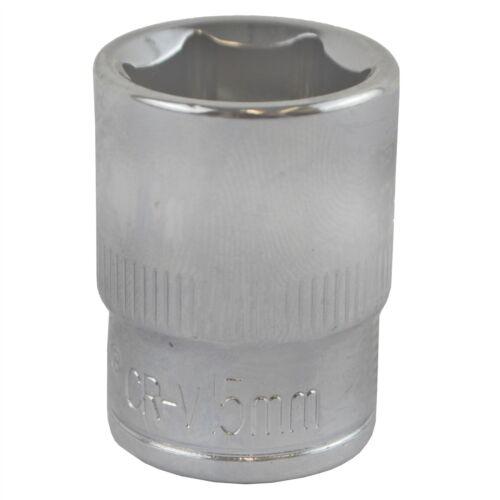 15mm 3/8 Drive Shallow Metric Socket Single Hex / 6 sided Bergen