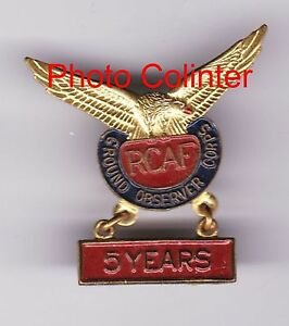Royal-Canadian-Air-Forces-Ground-Observers-Corps-5-Years-lapel-badge