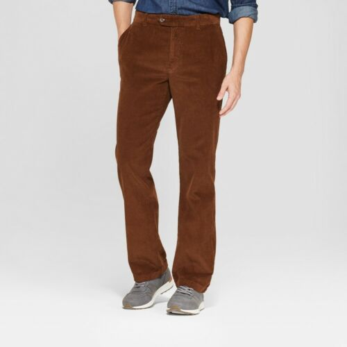 Men/'s Straight Fit Corduroy Trouser  Goodfellow /& Co 46x34 Stick Brown