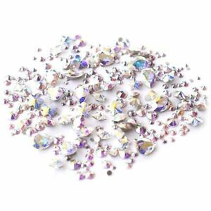 0ef3d7b66 Crystal AB Stone Mix of Swarovski® Flatbacks, Chatons & Fancy Stones ...