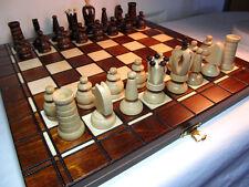 Schach Sehr schönes Schachspiel Royal Schachbrett 32 x 32 cm KH 65 mm Holz