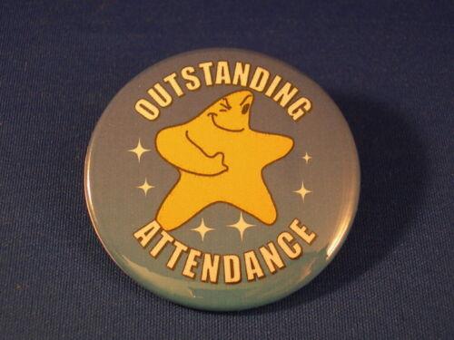 OUTSTANDING ATTENDANCE  Lot of 12 BUTTONS  school award