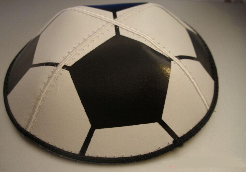 Image 1 - Football suede kippah Jewish Kippot, cupples, Yamaka (Yarmulkes) Ideal gift NEW