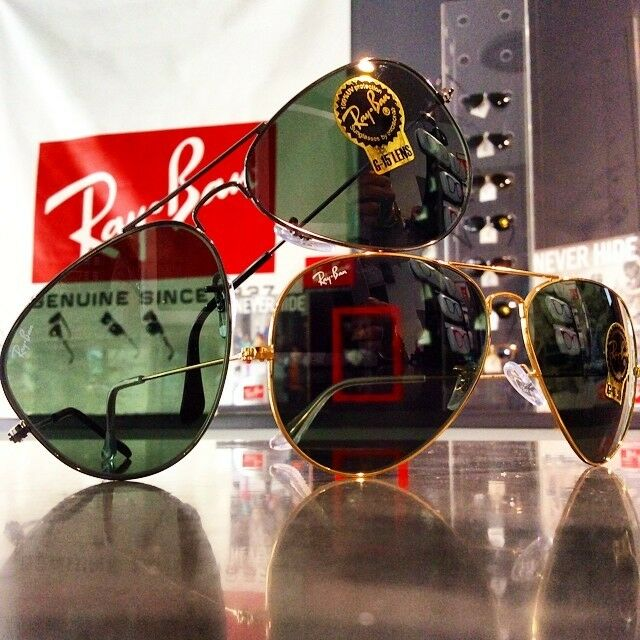 ray ban 0RB3025 aviator FRA  en verre Made in Italy original rayban RB 3025