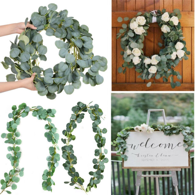 Artificial Silk Rose Flower Leaves Plants Wreath DIY Wedding Party Decor #M7A