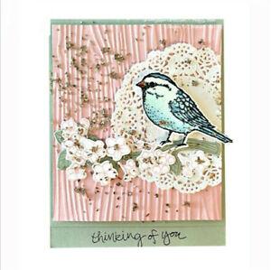 Stanzschablone-Vogel-Zweig-Weihnachten-Hochzeit-Oster-Geburtstag-Karte-Album-DIY
