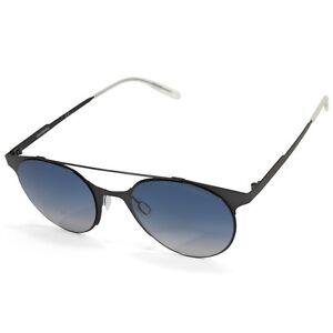 Carrera 115/S RFB/UY Matte Black/Blue Gradient Women's Metal Frame Sunglasses