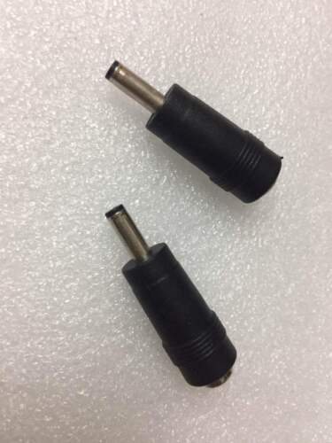 2pcs 4mm x 1.35mm Male to 5.5mm x 2.1mm female socket DC Power Adapter Connector