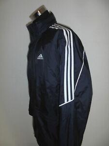 vintage 90`s Adidas equipment Nylon Regenjacke Jacke 90er glanz oldschool blau L