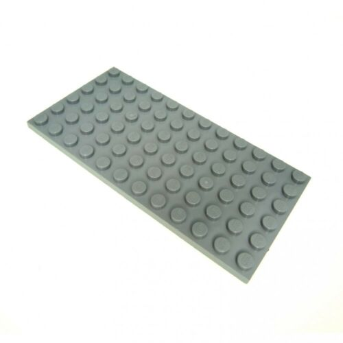 1x Lego Bau Platte neu-hell grau 6x12 7261 7198 9516 71006 60050 3028