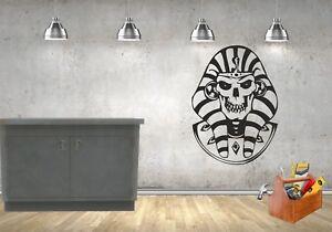 Egyptian Skull pharaoh design wall//car vinyl//decal//sticker