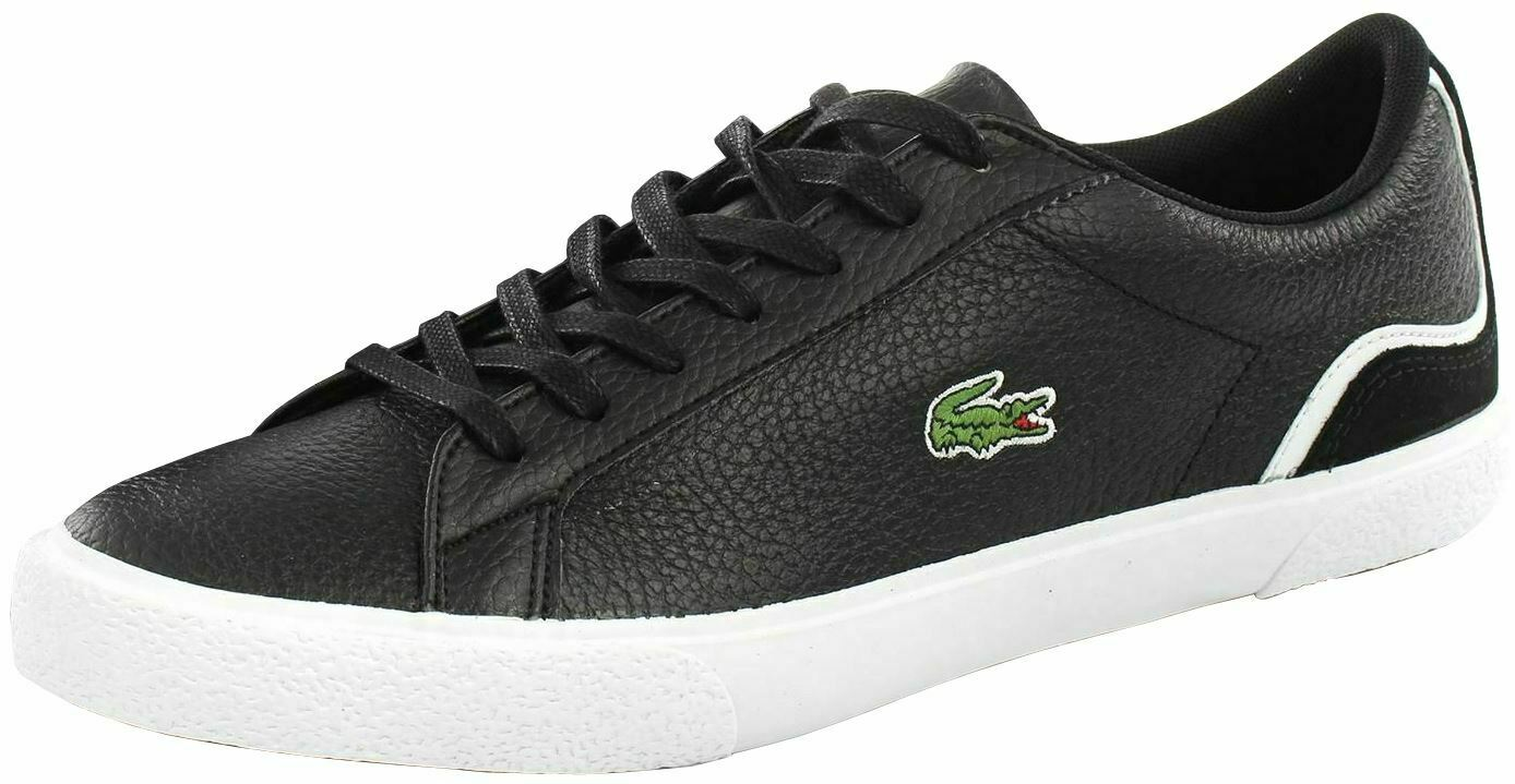 Lacoste Lerond 120 Black White Leather Mens Trainers