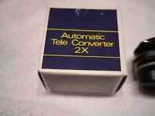 Kentar Automatic 2X Teleconverter SLR Camera Lens Adapter w/ Case & Original Box