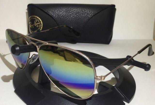 15ed2ed836 Ray Ban Sunglasses Aviator Rb3025 9020 c4 Bronze Gold Rainbow Mirror 58mm