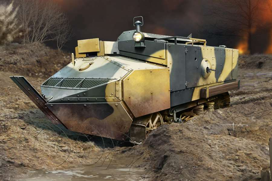 France Schneider CA Armored Car Kit 83862 1 35 Vehicle Static Model Hobby Boss