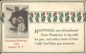 Garnet-NY-Christmas-Greeting-c1910-Postcard