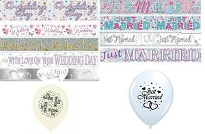 WEDDING-DAY-amp-JUST-MARRIED-BANNERS-PARTY-DECORATIONS