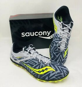 07324630b24f Saucony Men s Havok XC Spike Running Shoes Sneaker Silver Citron ...