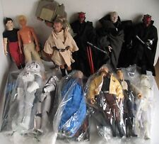 "HUGE LOT Star Wars 12"" Action Figure Dolls Darth Maul Vintage Luke Emperor Leia+"