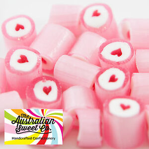 Pink-Heart-Rock-Candy-Bulk-Lollies-Wedding-Favours-Birthday-Party-Valentine