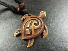 Cool Boy Men's Hand Carved Turtle Adjustable Rope Necklace Gift NG